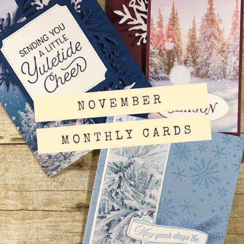 November Monthly cards small